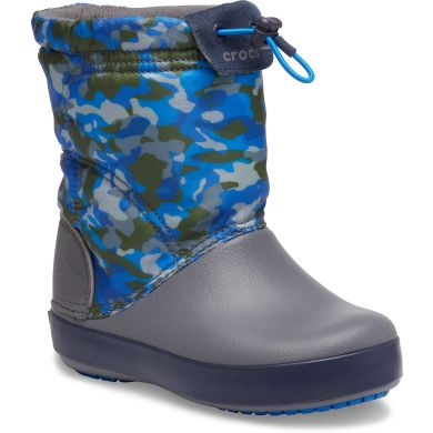 Crocband LodgePoint Graphic Winter Boot K Army Green/Charcoal