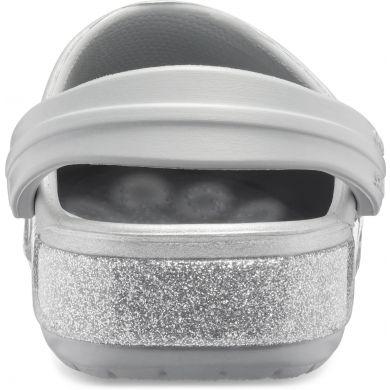 Crocband Glitter Clog K Silver