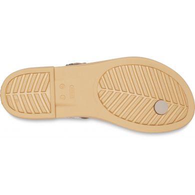 Crocs Tulum Toe Post Sandal W Mushroom/Stucco
