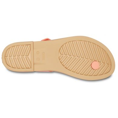 Crocs Tulum Toe Post Sandal W Grapefruit/Tan
