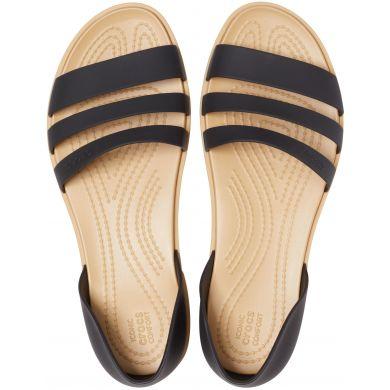 Crocs Tulum Open Flat W Black/Tan