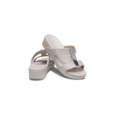 Crocs Monterey Metallic WedgeW Silver/Platinum