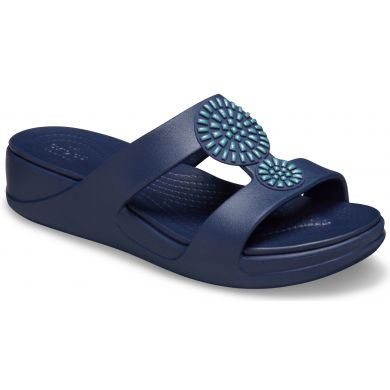 Crocs Monterey Diamante WedgeW Navy