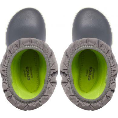 Crocband Winter Boot K Slate Grey/Lime Punch