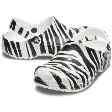 Classic Animal Print Clog White/Zebra Print