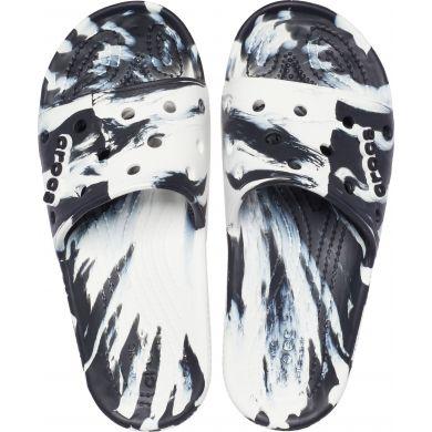 Classic Crocs Marbled Slide Whi/Blk
