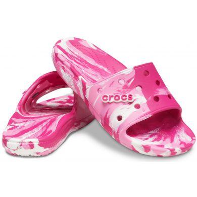 Classic Crocs Marbled Slide CPk/PLem