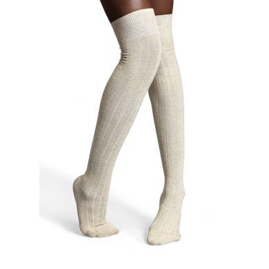 Krémové nadkolenky Happy Socks