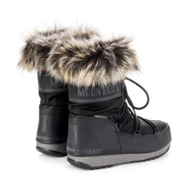Dámské černé sněhule Moon Boot Monaco Low WP
