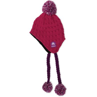 Cable Oversized Pom Hat