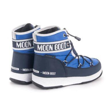 Dětské modré sněhule Moon Boot Jr Boy Mid WP