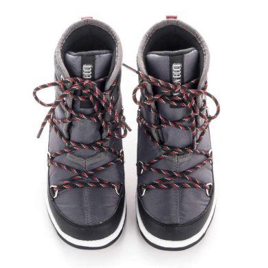 Dětské černé sněhule Moon Boot Jr Boy Mid WP