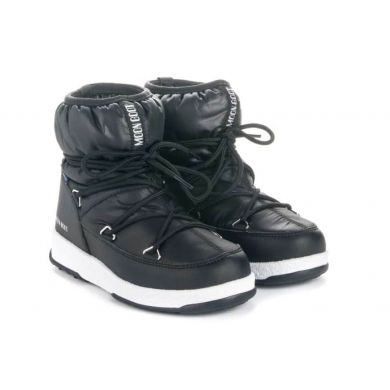 Dětské černé sněhule Moon Boot Jr Girl Low Nylon WP
