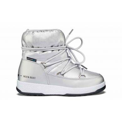 Dětské stříbrné sněhule Moon Boot Jr Girl Low Nylon WP