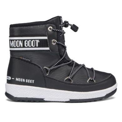 Dětské černé sněhule Moon Boot JR Boy Mid WP 2