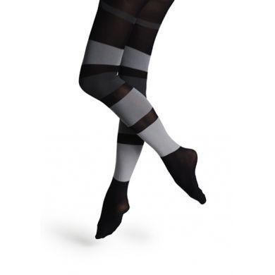 Černo-šedé punčocháče Happy Socks