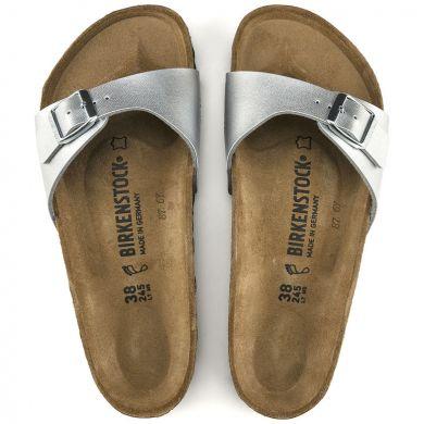Stříbrné pantofle Birkenstock Madrid Birko-Flor