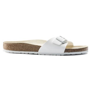 Bílé pantofle Birkenstock Madrid Birko-Flor
