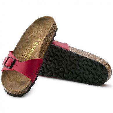 Červené pantofle Birkenstock Madrid Birko-Flor