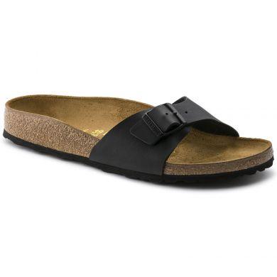 Černé pantofle Birkenstock Madrid Birko-Flor