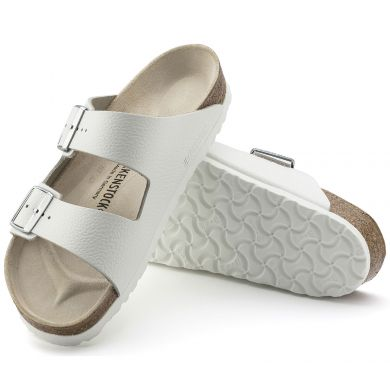 Bílé pantofle Birkenstock Arizona Natural Leather