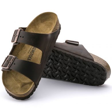 Hnědé pantofle Birkenstock Arizona Oiled Leather