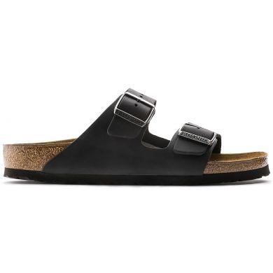 Černé pantofle Birkenstock Arizona Oiled Leather
