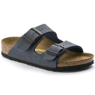 Modré pantofle Birkenstock Arizona Birko-Flor Nubuck
