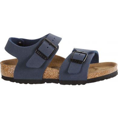 Dětské modré sandály Birkenstock New York Birko-Flor Nubuck