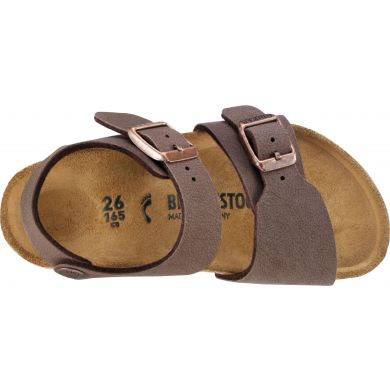 Dětské hnědé sandály Birkenstock New York Birko-Flor Nubuck