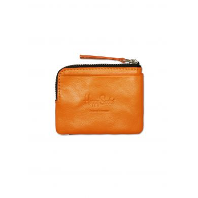 Leather Wallet Multi Orange