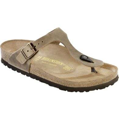 Hnědé pantofle Birkenstock Gizeh Oiled Leather