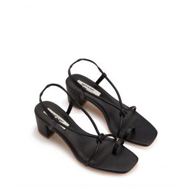 Dámské černé boty na podpatku Matt & Nat Amavi