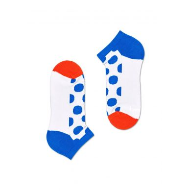 Nízké bílo-modré ponožky Happy Socks s puntíky, vzor Big Dot // KOLEKCE ATHLETIC