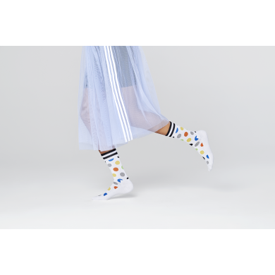 Bílé ponožky Happy Socks s barevnými puntíky, vzor Big Dot // KOLEKCE ATHLETIC