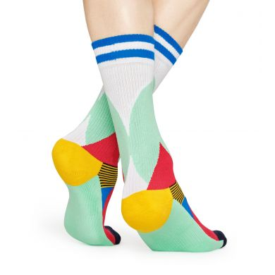 Barevné ponožky Happy Socks, vzor Blocked // KOLEKCE ATHLETIC