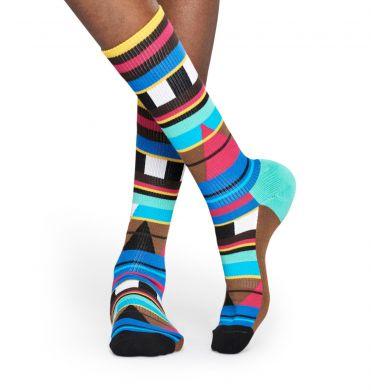 Barevné ponožky Happy Socks, vzor Graphic