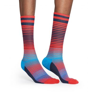 Červeno-modré ponožky Happy Socks, vzor Sunrise // kolekce Athletic