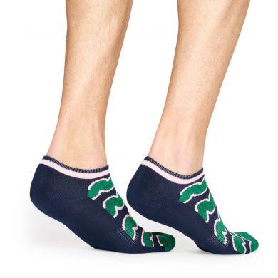 Modro-zelené nízké ponožky Happy Socks, vzor Squiggly // KOLEKCE ATHLETIC