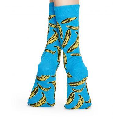 Modré ponožky s banány Happy Socks x Andy Warhol
