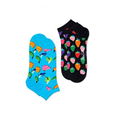 Nízké ponožky Happy Socks, vzor Banana - dva páry
