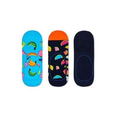 Nízké ponožky Happy Socks, vzor Banana - tři páry