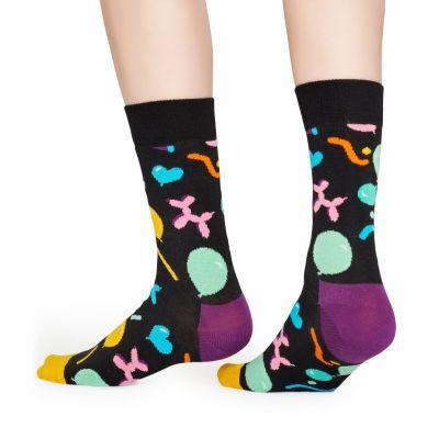 Černé ponožky Happy Socks s nafukovacími zvířátky, vzor Balloon Animal