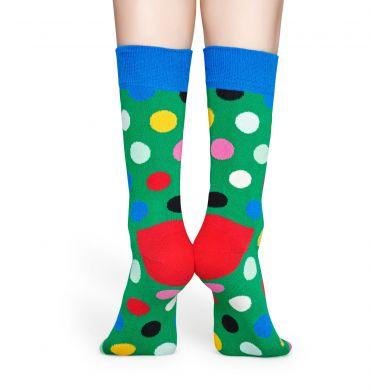 Zelené ponožky Happy Socks s puntíky, vzor Big Dot Block