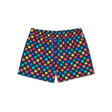 Barevné pánské plavky Happy Socks s puntíky, vzor Big Dot