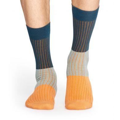 Oranžově modré ponožky Happy Socks