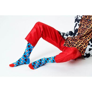 Modré ponožky Happy Socks x David Bowie, vzor Big Bowie Dot