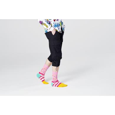 Růžové ponožky Happy Socks s cukrovým posypem, vzor Bday Sprinkles