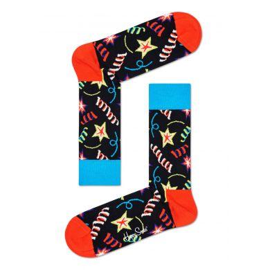 Černé ponožky Happy Socks s konfetami, vzor Bday Sparkle