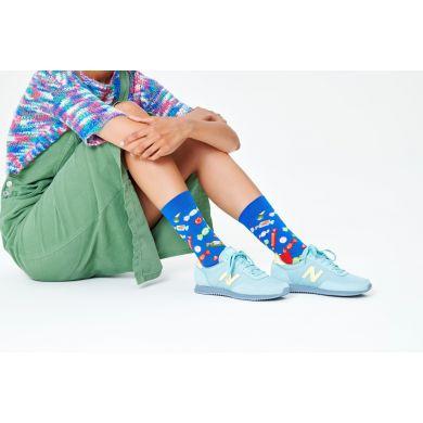 Modré ponožky Happy Socks s bonbóny, vzor Candy